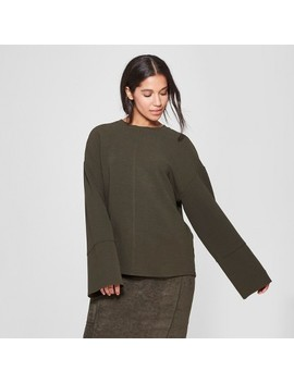 Women's Long Sleeve Relaxed Seamed Top   Prologue™ Olive by Prologue™