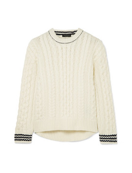 Brighton Cable Knit Wool Sweater by Rag & Bone