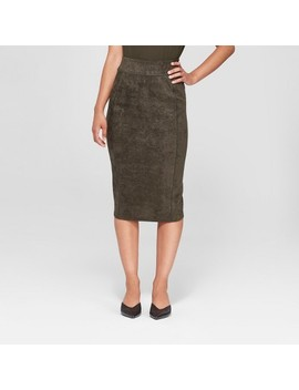 Women's Midi Suede Pencil Skirt   Prologue™ by Prologue™
