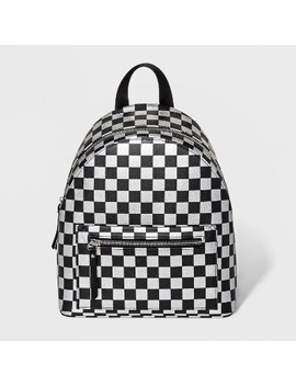 Checkered Mini Dome Backpack   Wild Fable™ Black by Wild Fable™