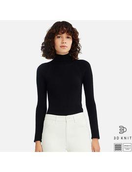 Women Uniqlo U 3 D Extra Fine Merino Ribbed Sweater by Uniqlo
