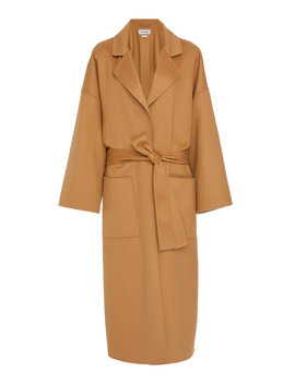Oversize Belted Wool And Cashmere Coat by Loewe