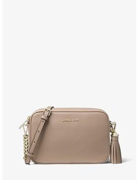 Ginny Medium Pebbled Leather Crossbody by Michael Michael Kors