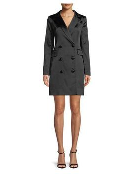 Double Breasted Satin Blazer Mini Dress by Milly
