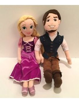 "Disney Store Tangled Rapunzel And Flynn Rider Eugene Plush Doll Lot 21"" Tall by Disney"