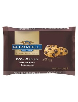 Ghirardelli 60 Percents Cacao Bittersweet Chocolate Baking Chips   20oz by Ghirardelli