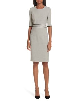 Doliviena Check Sheath Dress by Boss
