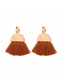 Jiami Fan Tassel Drop Earrings Dangle For Women Girls by Jiami