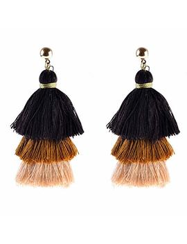 Bohemian Tassel Earrings Handmade Gold Tassel Dangle Earrings For Women Female Vintage Ethnic Jewelry by Kavani