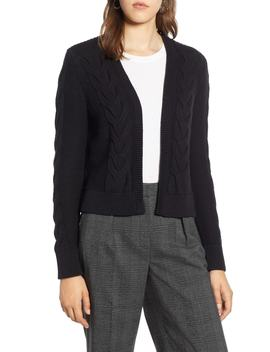 Open Front Cable Cardigan by Halogen®