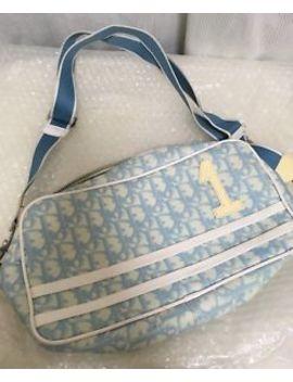 Christian Dior Light Blue Monogram Handbag Crossbody Purse Bag by Dior