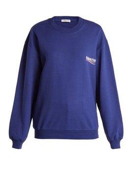 Logo Print Cotton Sweatshirt by Balenciaga