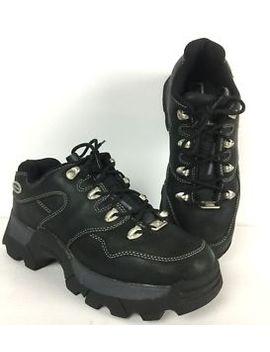 Vintage 90s Skechers 9.5 Black Platform Hiking Sneakers Jammers Trainers Uk 7 by Skechers