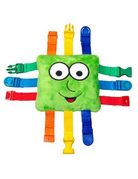 """Buckle Toy """"Buster"""" – Toddler Early Learning Basic Life Skills Children's Plush Travel Activity by Buckle Toys"""