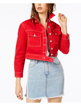 Cropped Cotton Denim Jacket by Kendall + Kylie