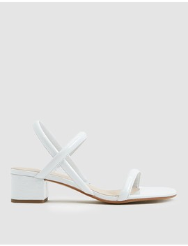 Kimi Sandal In White by Intentionally Blank