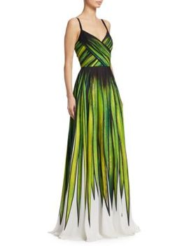 Palm Print Gown by Elie Saab