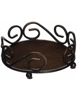 Thirstystone Round Scroll Holder, Bronze by Thirstystone