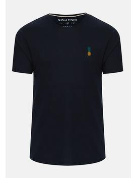 Navy Russel Crew Tee by Connor