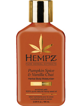 Travel Size Pumpkin Spice & Vanilla Chai Body Moisturizer by Hempz