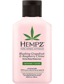 Travel Size Blushing Grapefruit & Raspberry Crème Herbal Body Moisturizer by Hempz
