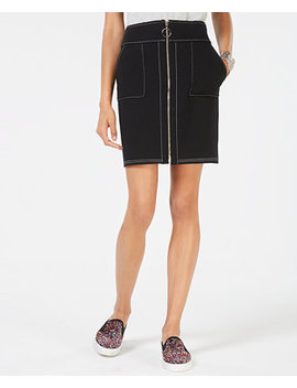 I.N.C. Petite Zip Front Mini Skirt, Created For Macy's by Inc International Concepts