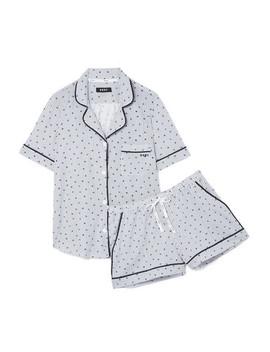Printed Cotton Blend Jersey Pajama Set by Dkny
