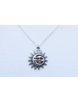 Celestial Sun & Moon Necklace by Etsy