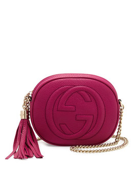 Soho Leather Mini Shoulder Bag, Bright Pink by Neiman Marcus