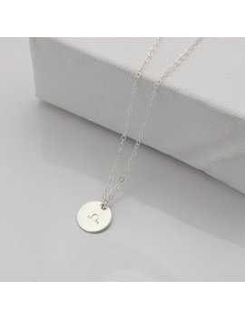 Silver Zodiac Necklace   Star Sign Disc Pendant   Choose Your Symbol by Etsy