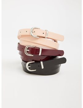 Patent Leather Belt   Pack Of 3 by Torrid