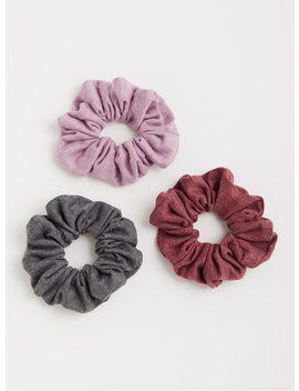 Jersey Knit Scrunch Hair Tie   Set Of 3 by Torrid