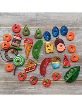 The Hungry Caterpillar, 3 D Play And Learn Set, Threading Game, Polymer Clay Creation, Montessori Game, The Hungry Caterpillar 3 D Play Set by Etsy