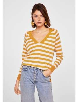 Szeroki Lniany Sweter by Mango