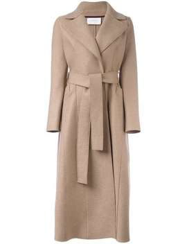 Harris Wharf London Belted Coat Home Women Harris Wharf London Clothing Single Breasted Coats by Harris Wharf London
