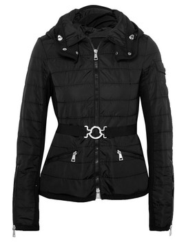 Belted Quilted Shell Jacket by Moncler