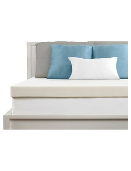 "Comfort Revolution 4"" Memory Foam Topper   White by Comfort Revolution"