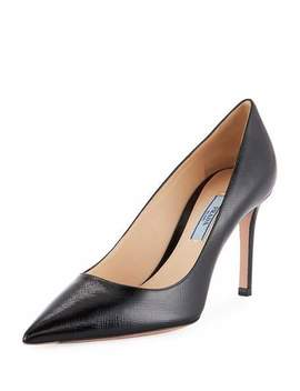 Patent Saffiano Leather 85mm Pumps by Prada