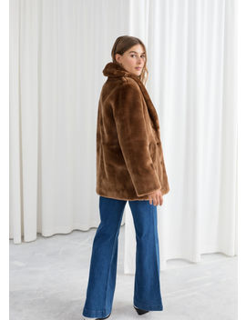 Short Faux Fur Coat by & Other Stories