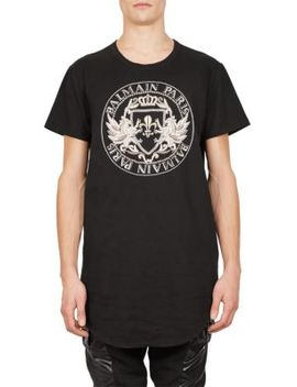 Graphic Coin Logo Tee by Balmain
