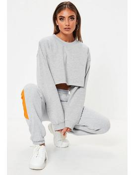 Grey Cropped Sweatshirt by Missguided