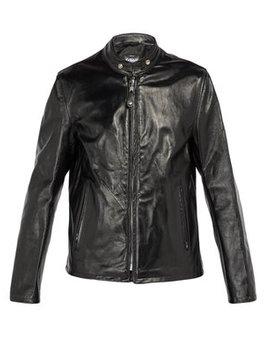 Mandarin Collar Leather Jacket by Schott