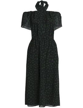 Off The Shoulder Printed Wool Gauze Dress by Vanessa Seward