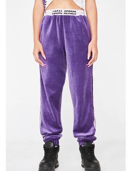 Purple Velvet Sweatpants by Local Heroes