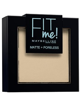 Maybelline New York Fit Me Matte&Poreless Cipria Opacizzante, 105 Natural by Maybelline New York