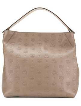 Monogram Print Shoulder Bag by Mcm