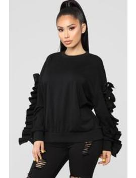 Girl With The Pearl Sweater   Black by Fashion Nova