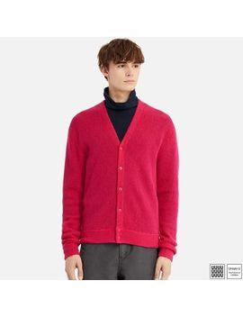 Men Uniqlo U Wool V Neck Long Sleeve Cardigan by Uniqlo