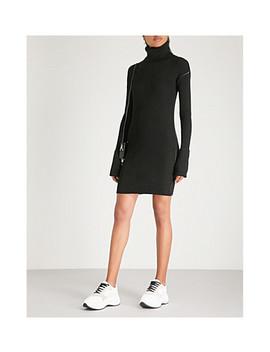 Ribbed Wool Blend Turtleneck Dress by Mm6 Maison Margiela
