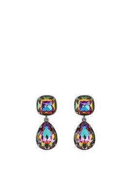 Rainbow Stone Drop Earrings by Henri Bendel